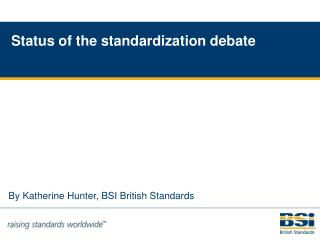 By Katherine Hunter, BSI British Standards