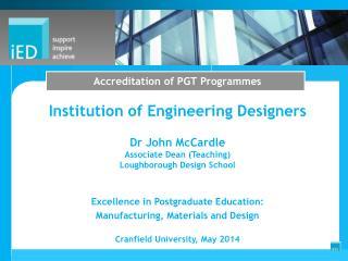 Accreditation of PGT Programmes
