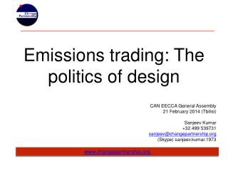 Emissions trading: The politics of design