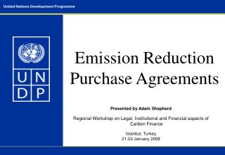 Emission Reduction Purchase Agreements