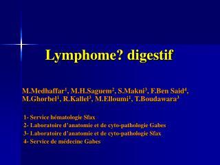 Lymphome? digestif