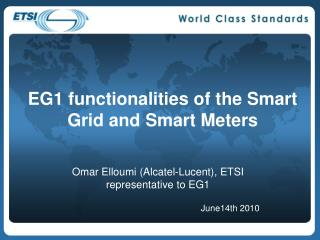 EG1 functionalities of the Smart Grid and Smart Meters