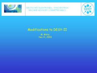Modifications to DESY-II