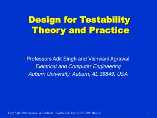 Design for Testability  Theory and Practice