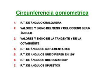 Circunferencia goniom � trica