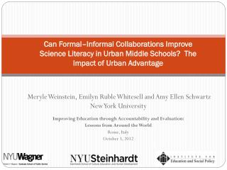 Meryle Weinstein, Emilyn Ruble  Whitesell  and Amy Ellen Schwartz New York University