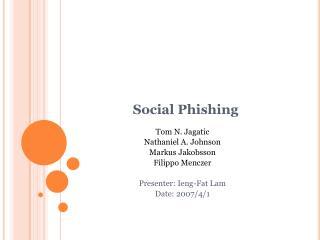 Social Phishing