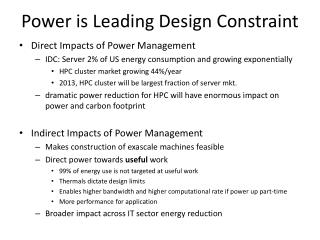 Power is Leading Design Constraint