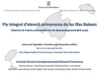 Pla  integral d'atenció primerenca de les Illes  Balears