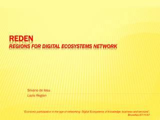 REDEN REgions for Digital Ecosystems Network