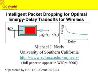 Intelligent Packet Dropping for Optimal  Energy-Delay Tradeoffs for Wireless