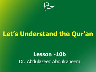 Let's Understand the Qur'an