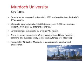 Established as a research university in 1973 and was Western Australia's 2 nd  university.