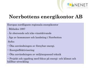 Norrbottens energikontor AB