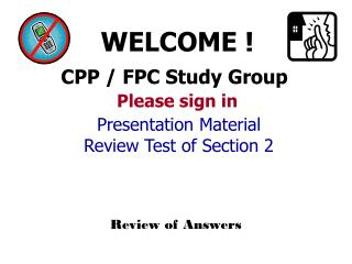 CPP / FPC Study Group