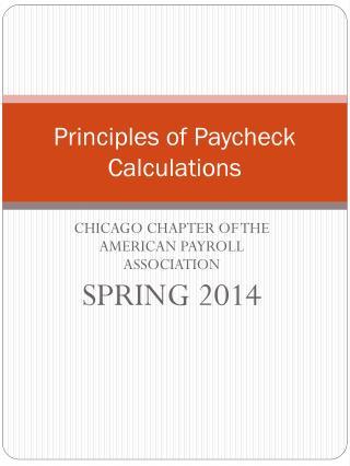 Principles of Paycheck Calculations