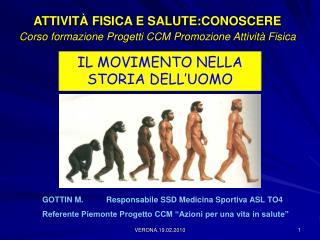 ATTIVITÀ FISICA E SALUTE:CONOSCERE Corso formazione Progetti CCM Promozione Attività Fisica