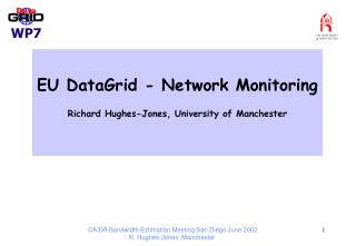 EU DataGrid - Network Monitoring  Richard Hughes-Jones, University of Manchester