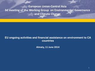 European Union-Central Asia