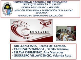 """UNIVERSIDAD NACIONAL DE EDUCACIÓN  """"ENRIQUE GUZMÁN Y VALLE"""" ESCUELA DE POSGRADO – MAESTRÍA"""