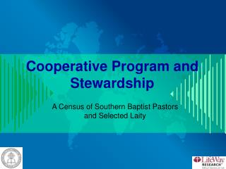 Cooperative Program and Stewardship