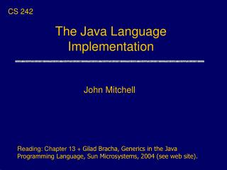 The Java Language Implementation