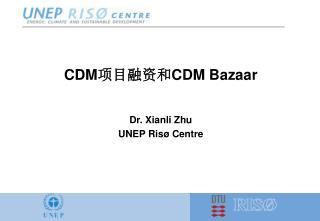 CDM 项目融资和 CDM Bazaar Dr. Xianli Zhu UNEP  Risø Centre