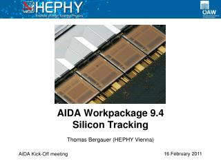 AIDA  Workpackage  9.4 Silicon Tracking