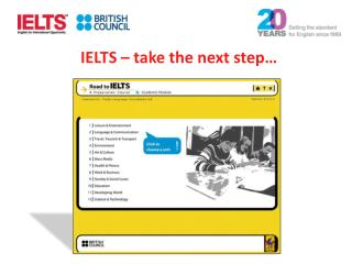 IELTS � take the next step�