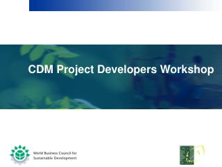 CDM Project Developers Workshop