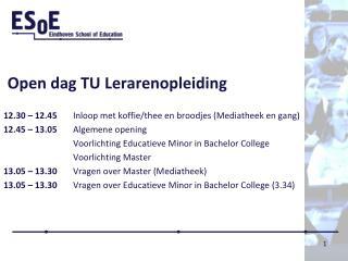 Open dag TU Lerarenopleiding