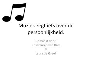Muziek zegt iets over de persoonlijkheid.