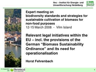 ifeu – Institut für Energie- und Umweltforschung Heidelberg