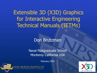 Extensible 3D (X3D) Graphics for Interactive Engineering Technical Manuals (IETMs)