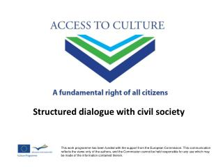 Structured dialogue with civil society