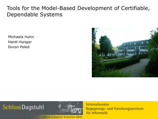 Tools for the Model-Based Development of Certifiable, Dependable Systems