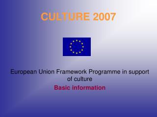 CULTURE 2007