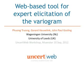 Web-based tool for expert elicitation of  the variogram