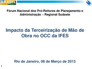 Fórum Nacional dos Pró-Reitores de Planejamento e  Administração – Regional Sudeste