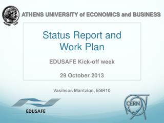 Status Report and  Work Plan