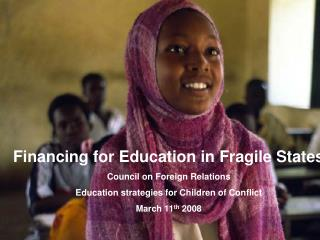 Financing for Education in Fragile States  Council on Foreign Relations