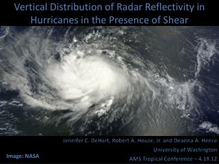 Vertical Distribution of Radar Reflectivity in Hurricanes in the Presence of Shear