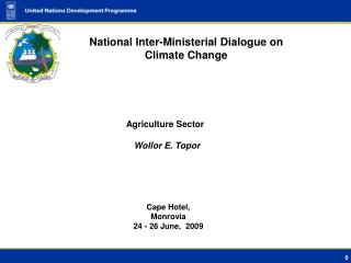 National Inter-Ministerial Dialogue on Climate Change