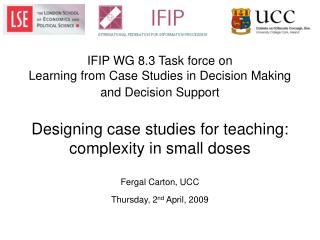 Designing case studies for teaching