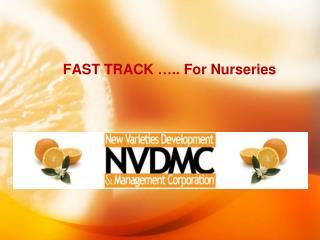FAST TRACK ….. For Nurseries