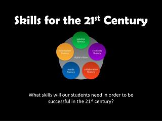Skills for the 21 st  Century