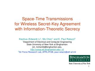 Space-Time Transmissions  for Wireless Secret-Key Agreement with Information-Theoretic Secrecy