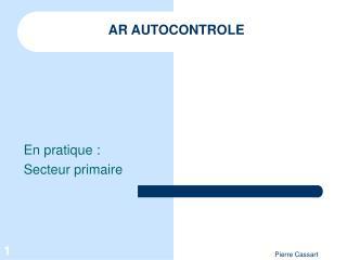 AR AUTOCONTROLE