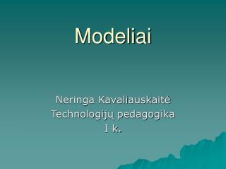 Modeliai