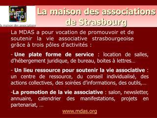 La maison des associations de Strasbourg